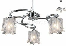 FLORENCE 3 ARM POLISHED CHROME CEILING LIGHT! LIQUIDATED STOCK CLRNCE! THIRD MRP