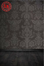 POSH BLACK BACKDROP WALLPAPER FLOOR BACKGROUND VINYL PHOTO PROP 5X7FT 150x220CM