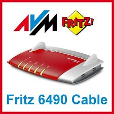 TOP! AVM FRITZBox 6490 Cable 1300 Mbps 4-Port 1000 Mbps Wi-Fi 802.11ac Router