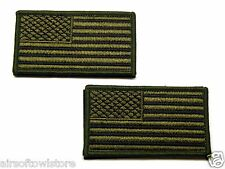 OD US National Flag Army Military Velcro Patch Set for AEG Airsoft (345)