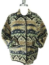 Jane Ashley Clothing Western Tribal 100% Cotton Tapestry Metal Buttons Jacket XL
