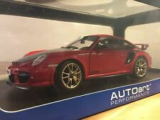1/18 AutoArt Porsche 911 (997) GT2 RS Red Black FREE SHIPPING