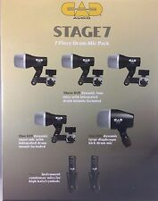 CAD Audio Stage 7 Drum Pack New in box w/ case! Snare, Kick, 3x Tom, 2x Overhead