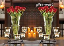 2 black candelabra Candle holder flower VASE floral wedding table centerpiece