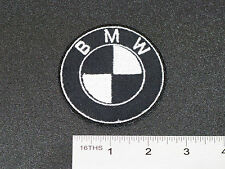 BMW EMBLEM CUSTOM BLACK & WHITE CAR MOTORCYCLE BIKER RACING PATCH - MADE IN USA