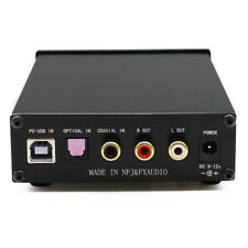 HiFi Headphone Amplifier 24BIT/192K DAC Audio Decoder Optical & Coaxial & USB