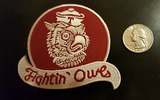"Temple University Owls Vintage Iron On Patch 3"" x 3.25"" Nice"