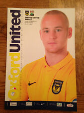 Oxford United v Barnet Programme - Played 12th March 2013 - Mint Condition