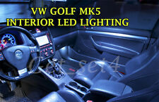 VW GOLF MK5 Interior Upgrade 2003-2008 Bianco Lampadine LED Luce Completo Set