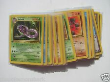 Pokemon COMPLETE 1ST EDITION FOSSIL SET Commons/Uncommons - 32 Cards - NM/MINT+