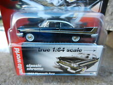 2016 AUTO WORLD 1:64 *PREMIUM 5C* Black 1958 Plymouth Fury *NIP!*