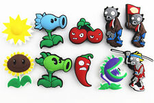 10pcs Plants Vs Zombies Shoe Charms for Fits Croc Shoes Wristband Party