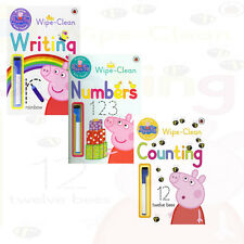 Peppa Pig: Practise with Peppa Collection 3 Books Set Writing Numbers Counting