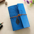 Sky Blue Retro Vintage PU Leather Pocket Notebook Kraft Diary Travel Journal NEW