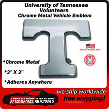 University of Tennessee Volunteers Chrome Metal Car Auto Emblem Decal Ships Fast