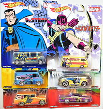 HOT WHEELS POP CULTURE SET OF 6 MARVEL DODGE CHEVY PANEL HAULIN MOTORHOME