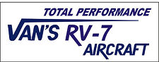 A183 Vans RV-7 Airplane banner hangar garage decor Aircraft signs