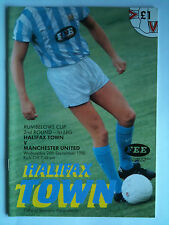 1990/91 Halifax Town v Manchester United League Cup 2nd Rd, 1st Leg