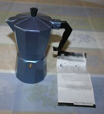 Stove Top Single Cup Espresso Coffee Maker Blue Mastercraft