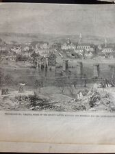 J1-6 Ephemera 1863 Folded Picture American Civil War Fredericksburg Battle Scene