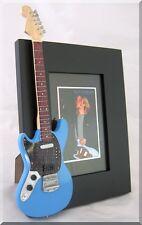KURT COBAIN  Miniature Guitar Frame Jagstang Nirvana