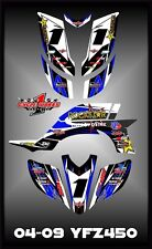 Yamaha YFZ 450 04-09  SEMI CUSTOM GRAPHICS KIT Krock4