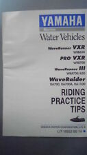 Yamaha Riding Practice Tips Fact. Manual Wave Runner Wave Rider LIT-18552-00-14