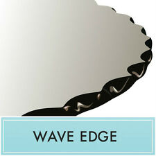 """Clear Tempered Glass Dining Table Top 42"""" Round 1/2"""" thick Wave edge"""