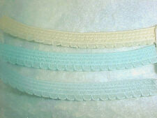 ELASTIC 3/8 Pastel YELLOW Ivory Scalloped Edge Elastic 5 yd. Headbands Doll 7102