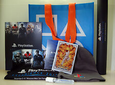 PlayStation Experience 2015 / 2014 PSX Big Lot Promo/Swag- Bag, T-Shirt, Posters