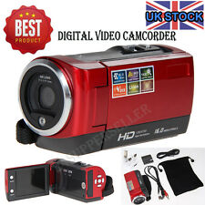 "720P Digital Touchscreen Camcorder Video Camera DV DVR 2.7"" LCD 16MP ZOOM Red UK"