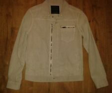 "ALL SAINTS COBBLE CREAM ""PECK CORD"" DENIM JACKET COAT SHIRT EX-SMALL BNWT"