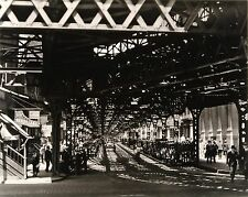 "Berenice Abbott ""El at Battery"" from Retrospective 1930-1960 portfolio SIGNED"