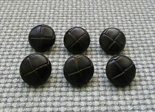 6 Vintage Dark Brown Football Look Plastic Buttons 19mm Coat Aran Cardigan