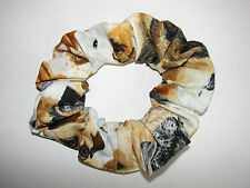 Lg Dogs fabric hair scrunchie-schnauzers retrievers shepherds yorkies beagles