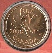 2008 MS Penny 1 One Cent 08 Canada MAGNETIC BU Coin UNC