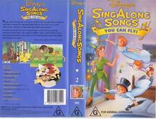 SING ALONG SONGSYOU CAN FLY NUMBER 2 DISNEY VHS PAL VIDEO A RARE FIND