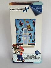 New Kids Boys Super Mario Rev Your Engine Window Panels & Tiebacks Nintendo