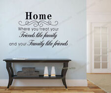 Huge Quote Wall Stickers Home Familys Friends Art Decal Paper Mural Decor