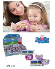 Kids Peppa Pig Rings Birthday Loot Party Bag Filler Gift Bracelets Charms Toys