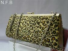 Leopardo negro y manchas de color ámbar Clutch Cartera Bolso de Mano Regalo Ideal.