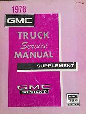 1976 GMC Truck Sprint  service repair manual Supplement