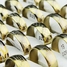 36pcs Arc Stainless Steel Fashion Womens Mens Gold Rings Wholesale Jewelry Lots