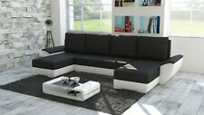 Brand New MALIBU SYSTEM Corner Sofa Bed in BLACK AND WHITE With Storage