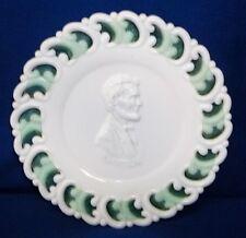 Milk Glass LINCOLN PLAQUE Civil War Centennial Plate L. E. Smith 1960