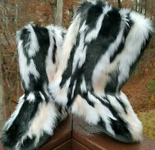 Faux Suede Fur Rabbit Yeti Eskimo MUK LUKS fuzzy furry boots winter  snow