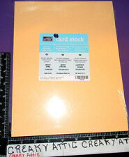 STAMPIN UP APRICOT APPEAL 24 SHEETS CARDSTOCK PAPER retired NIP 8 1/2 x 11