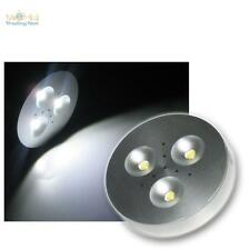 LED puck light Aluminio Spot 3x1W blanco puro 12V DC