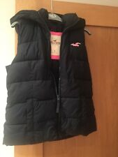 GENUINE HOLLISTER Ladies Hooded Gilet .. Navy Size S.. Exc Condition..worn once
