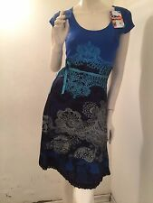 New Desigual Ladies Women Dress Short-Sleeve-Blou  Beautiful Design XS